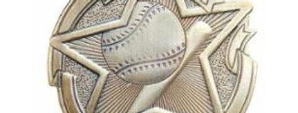 "Star 2"" Gold Baseball Medals"