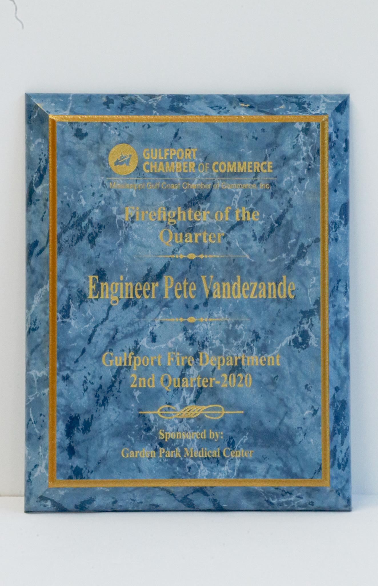 Blue Marble plaque