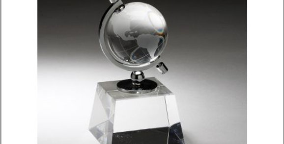 Crystal GLOBE IN SEMI-MERIDIAN