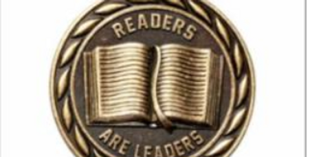 "Standard 2"" Gold Readers Are Leaders Medal"