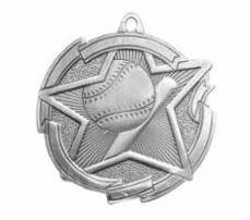 "Star 2"" Silver Baseball Medals"
