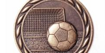 "Standard 2"" Bronze Soccer Medals"