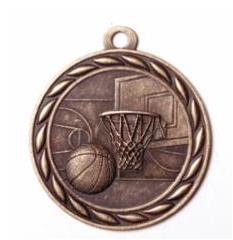 """Standard 2"""" Bronze Basketball Medals"""