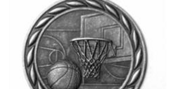 "Standard 2"" Silver Basketball Medals"