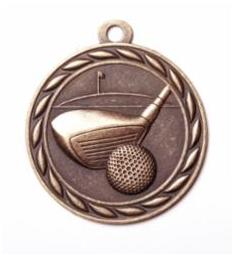 """Standard 2"""" Golf Bronze Medals"""
