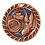 "Thumbnail: Red/Blue Glitter 2"" Track Bronze Medals"