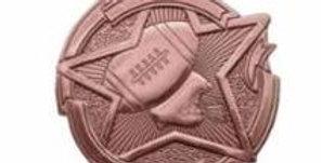 """Star 2"""" Bronze Football Medals"""