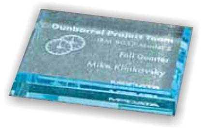 """PAPERWEIGHT RECTANGLE BLUE 4 1/2"""" X 3 1/2"""""""