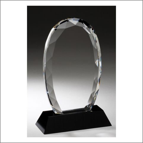 Crystal FACETED OVAL