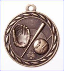 """Standard 2"""" Bronze Baseball Medals"""