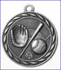 "Standard 2"" Silver Baseball Medals"