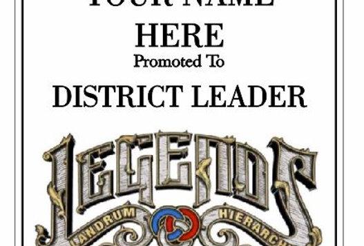 District Leader Plaque