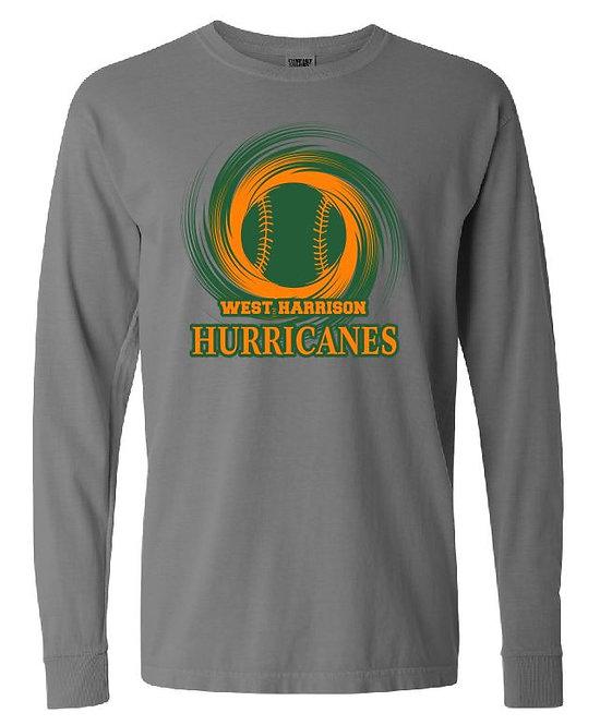 Comfort Colors Long Sleeve Hurricane Design