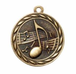 """Standard 2"""" Gold Music Medal"""