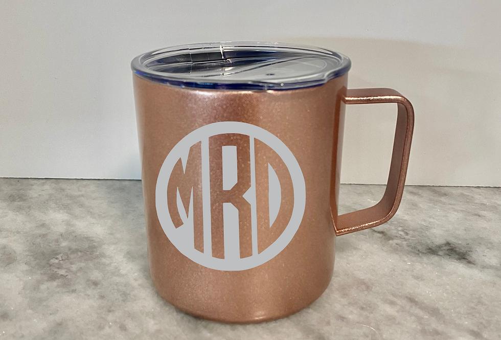 Personalized Rose gold mug