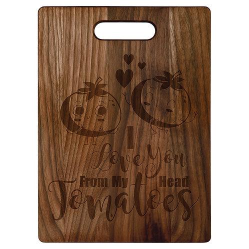 Signature walnut cut cutting board
