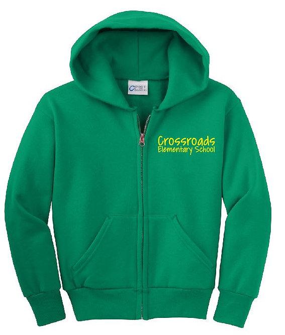 Crossroads Uniform  Youth Zip Hoodie