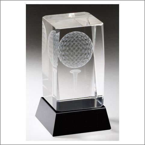 Crystal incased Golfball
