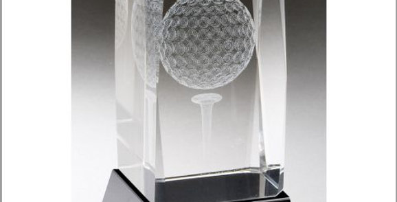 Crystal incased Golfball