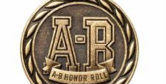 """Standard 2"""" Gold A-B Honor Roll Medal"""