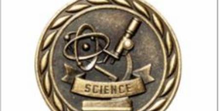 """Standard 2"""" Gold Science Medal"""