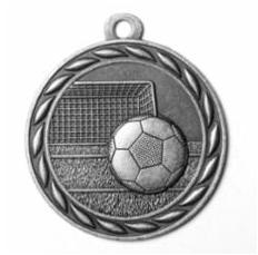 "Standard 2"" Silver Soccer Medals"