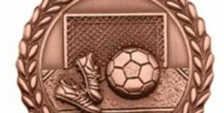 "Standard Die Cast 2 3/4"" Bronze Soccer Medals"