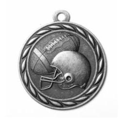 "Standard 2"" Silver Football Medals"