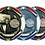 "Thumbnail: Red/Blue Die Cast 2"" Gold Basketball Medals"