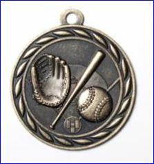 """Standard 2"""" Gold Baseball Medals"""