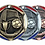 "Thumbnail: Red/Blue Die Cast 2"" Bronze Soccer Medals"