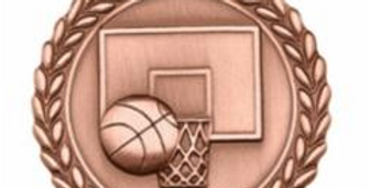 "Standard Die Cast 2 3/4"" Bronze Basketball Medals"