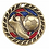 "Thumbnail: Red/Blue Glitter 2.5"" Gold Soccer Medals"