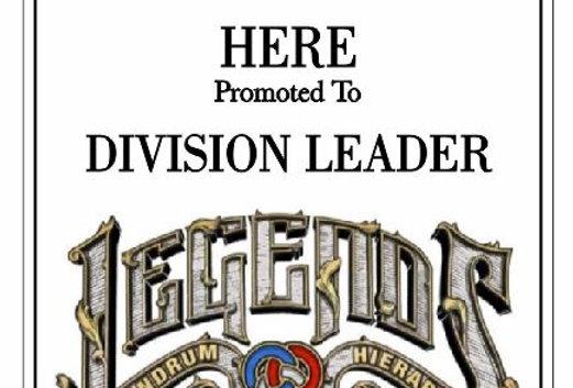 Division Leader Plaque