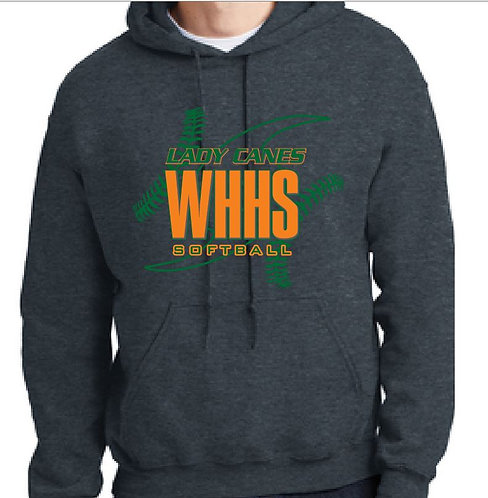Hoodie Softball Lace Design