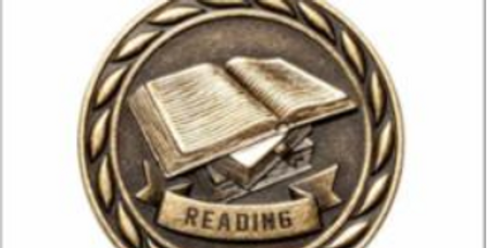 "Standard 2"" Gold Reading Medal"