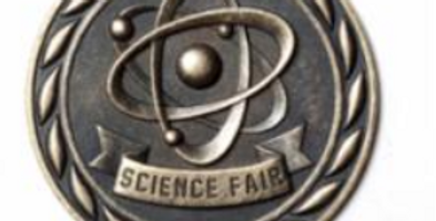 "Standard 2"" Gold Science Fair Medal"