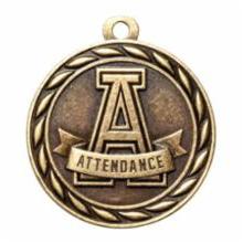 """Standard 2"""" Gold Attendance Medal"""