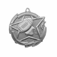 "Star 2"" Silver Football Medals"