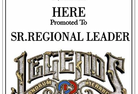 Sr. Regional Plaque