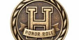 "Standard 2"" Gold Honor Roll Medal"