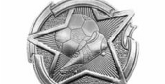 "Star 2"" Silver Soccer Medals"