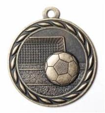 """Standard 2"""" Gold Soccer Medals"""
