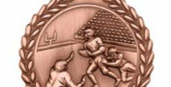 "Standard Die Cast 2 3/4"" Bronze Football Medals"