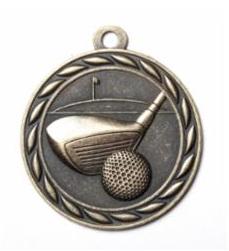"""Standard 2"""" Golf Gold Medals"""