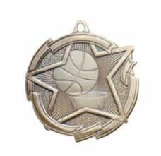 "Star 2"" Gold Basketball Medals"