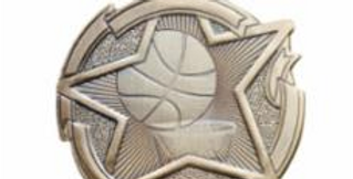 "Star 2"" Gold Basketball Medals"