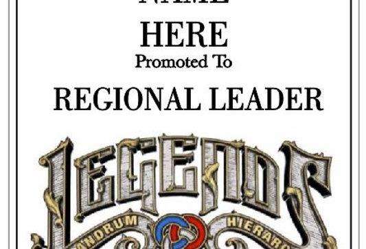 Regional Leader Plaque