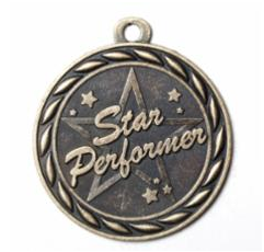 "Standard 2"" Star Performer Gold Medals"