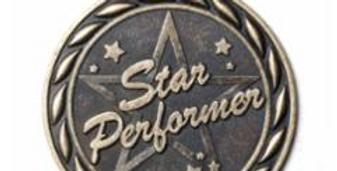 "Standard 2"" Star Performer Gold Medals"